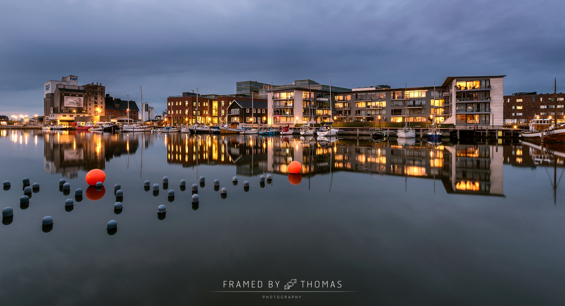 City complex at Odense harbour, Denmark