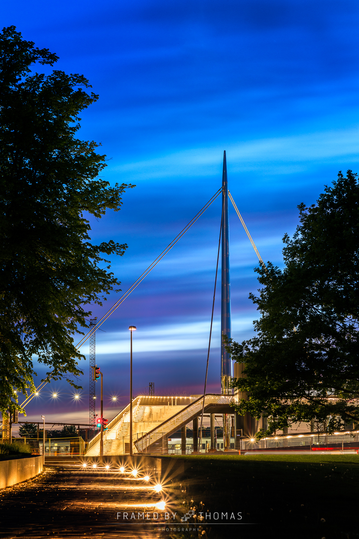 The City bridge in Odense, Denmark