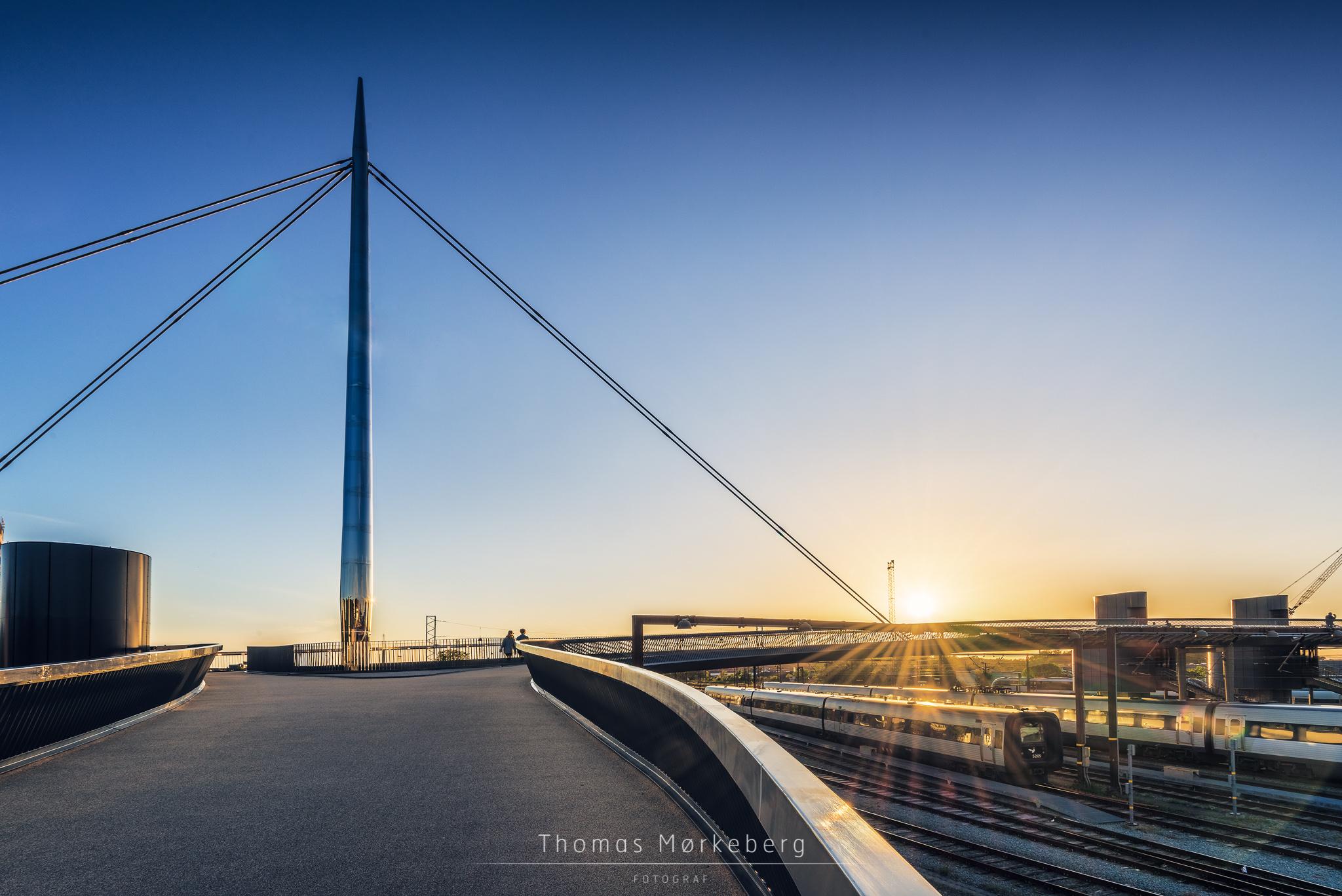 The City bridge in Odense, Denmark