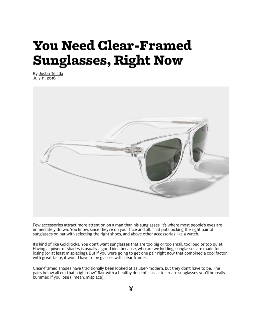 Playboy   Clear Framed Sunglasses