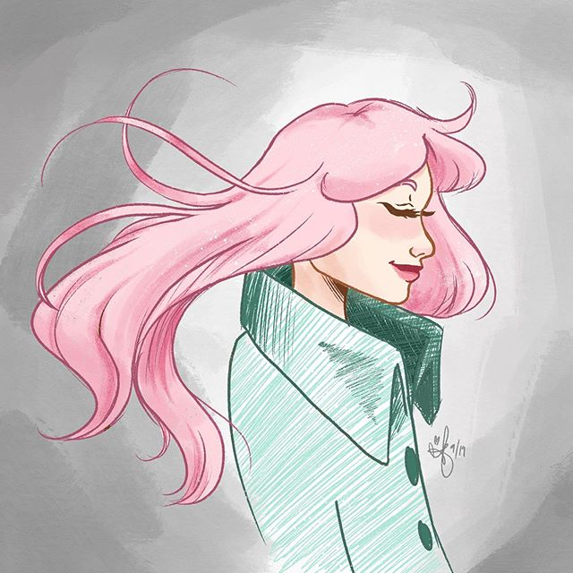 Wispy pink hair 🍃 . This was supposed to be a flat sketch with some digital ink but you throw in ONE shadow...😂🙄 Inktober starts tomorrow you guys! Who's excited?! I'm thinking Halloween theme, obvi 🎃👻 . . . . . #illustration #drawing #doodle #sketch #artistsoninstagram #animation #characterdesign #austinesocs #pinkhair #greencoat #digitalink #digitalart #procreate #artistmom #visdev #longhair #draweveryday #artoftheday #femaleportrait #femalecharacter #fallfashion