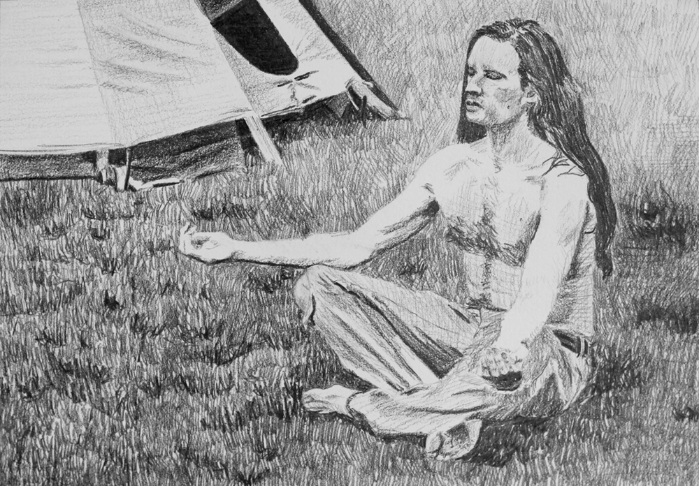 Communing with Nature  Ep 3 Scene 6 Graphite on paper