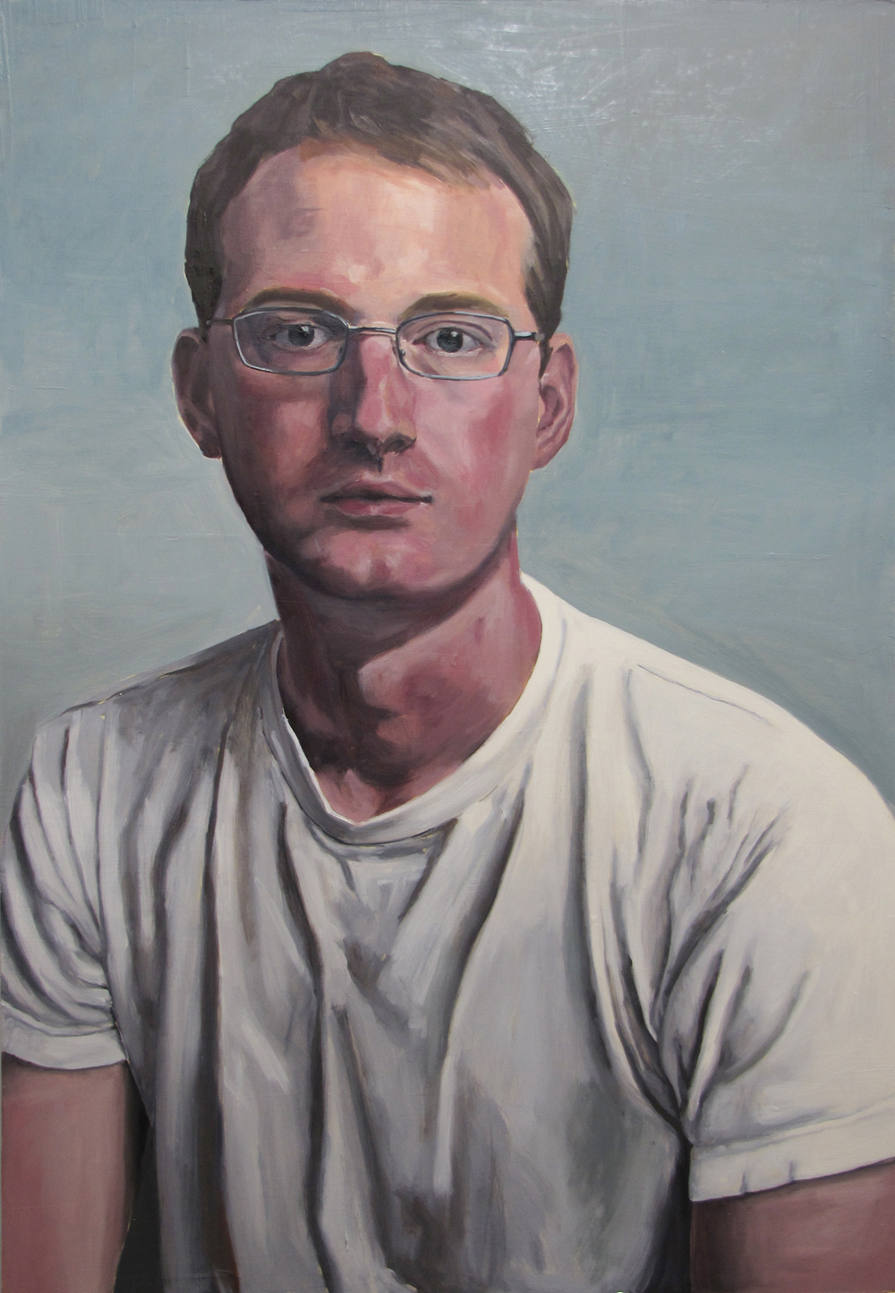 Self Portrait  Oil on panel