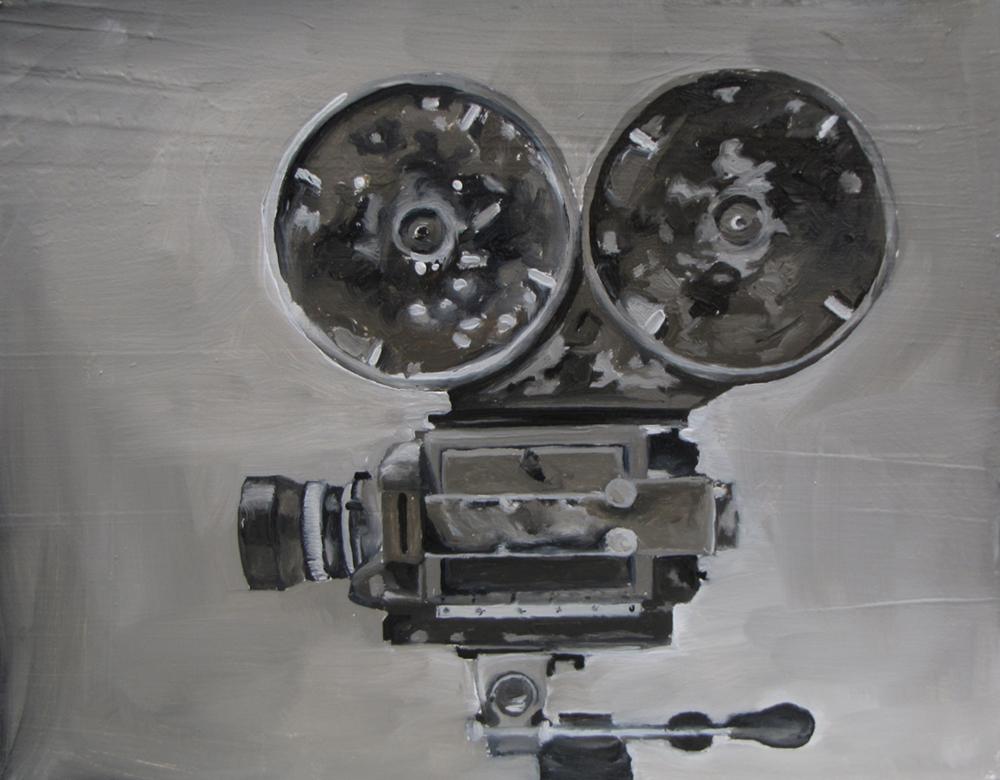 Film Camera  Oil on panel
