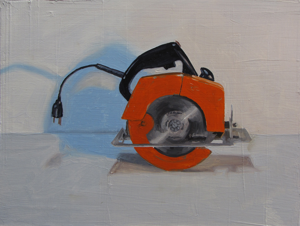 Gifted Circular Saw  Oil on panel