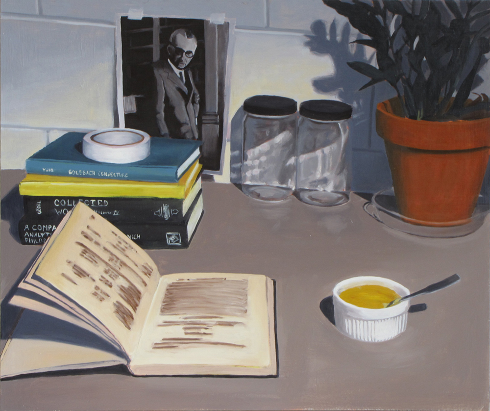 Proof Pudding  Oil on panel