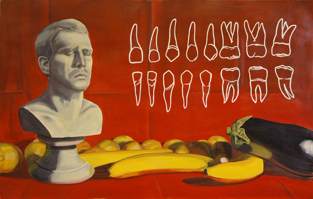 Not Hungry  Oil on paper