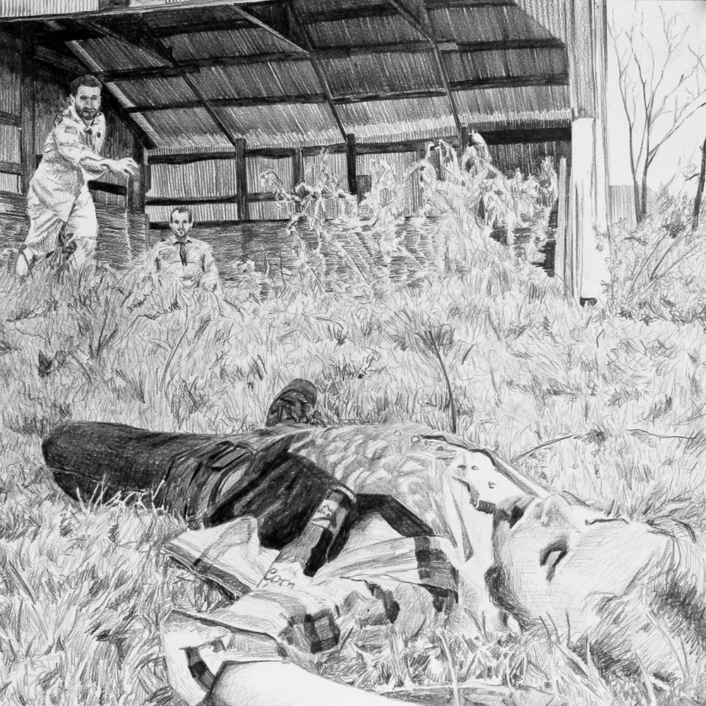 Killing a Werewolf  Ep 1 Scene 9 Graphite on paper