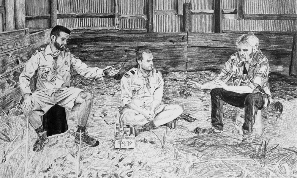 I don't Touch That Stuff  Ep 1 Scene 8 Graphite on paper