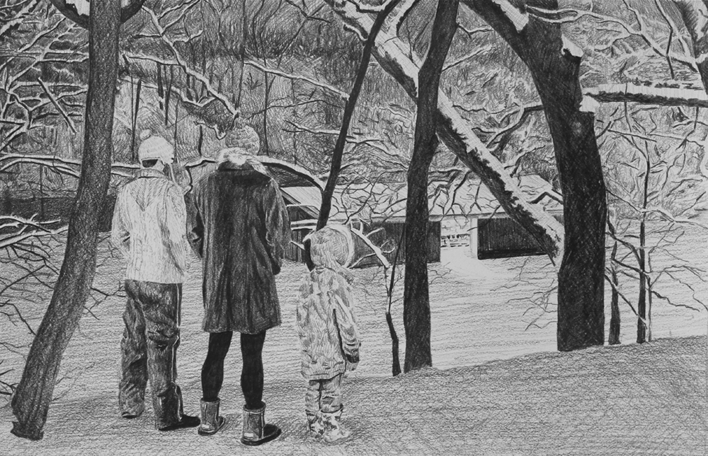 Discovery of a Labor Camp  Ep 6 Scene 5 Graphite on paper