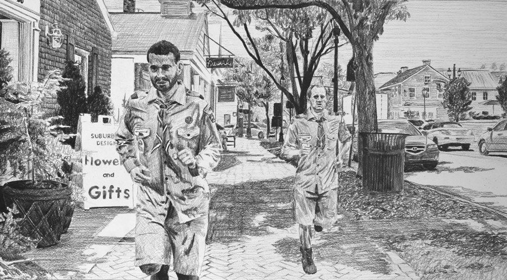 Running with Heart and Feet   Ep 1 Scene 6.2 Graphite on paper
