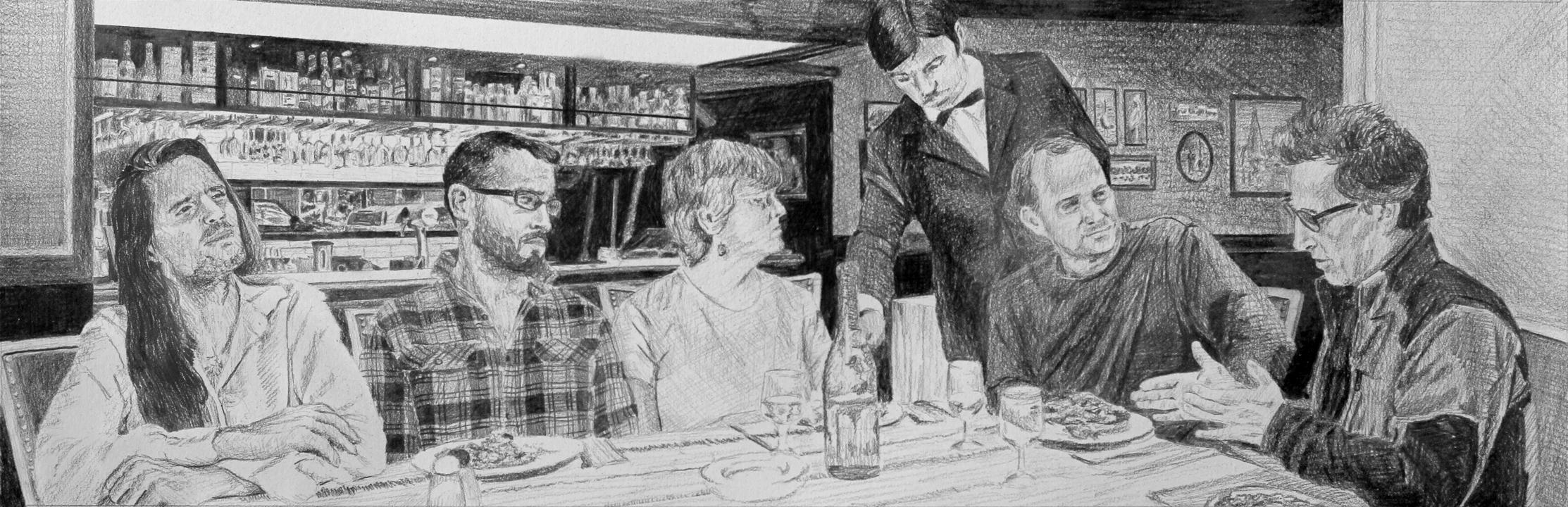 Art Discussion  Ep 4 Scene 2 Graphite on paper