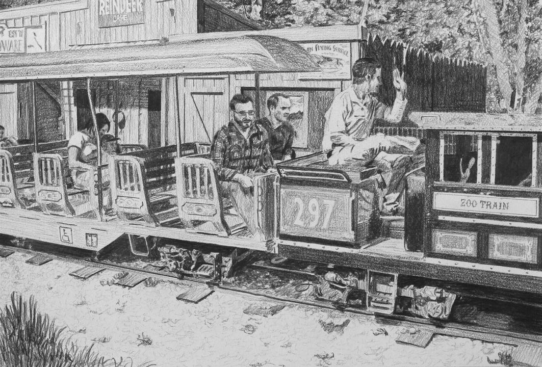 Zoo Train  Ep 4 Scene 7.2 Graphite on paper