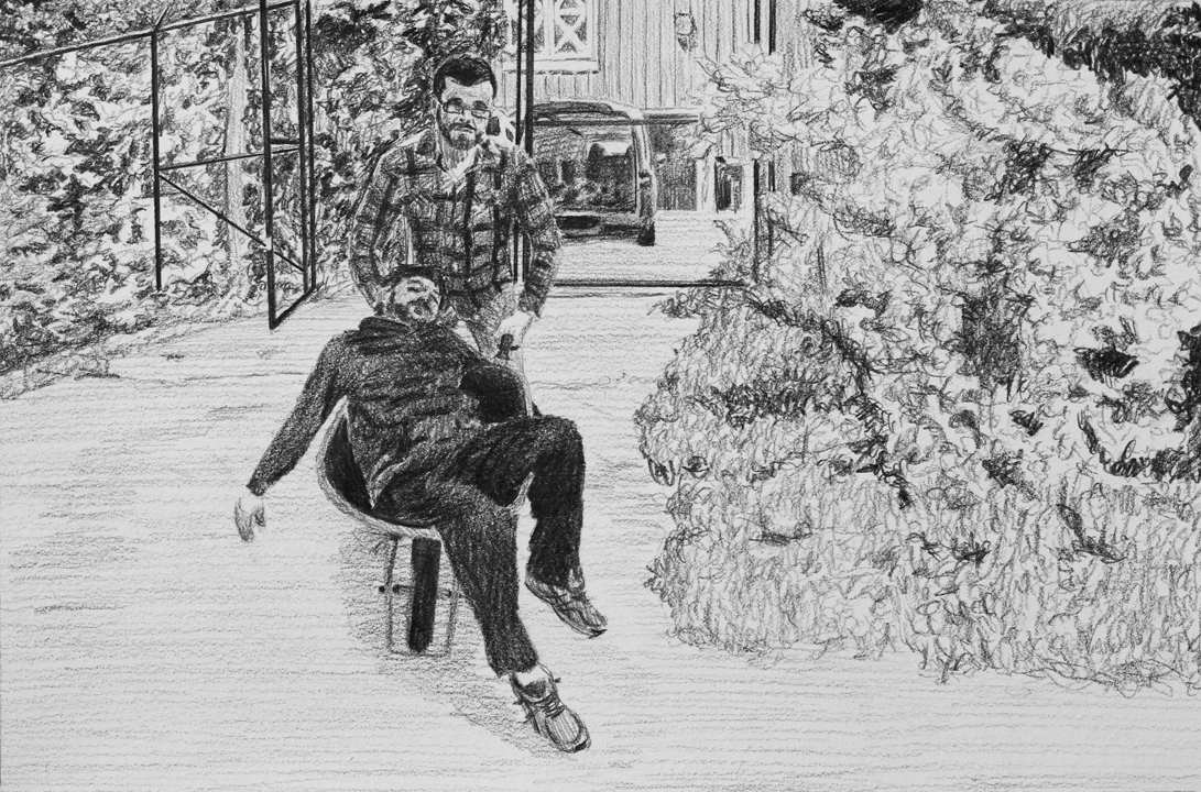 Delivery of Food  Ep 4 Scene 12.1 Graphite on paper