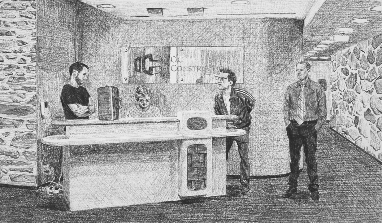 Appointing an Apprentice  Ep 1 Scene 3 Graphite on paper