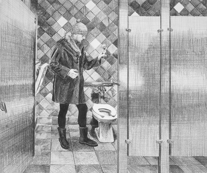 Flooding the Nation  Ep 6 Scene 9 Graphite on paper