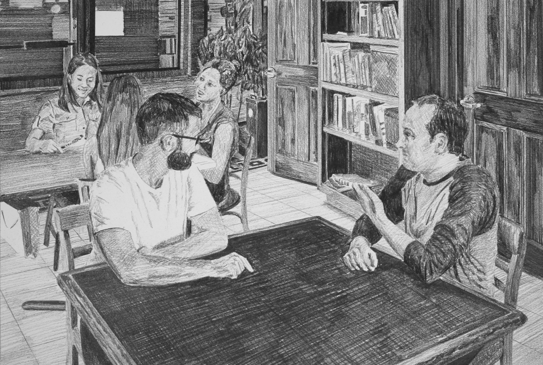 An Offer of A New Opportunity  Ep 5 Scene 1.2 Graphite on paper
