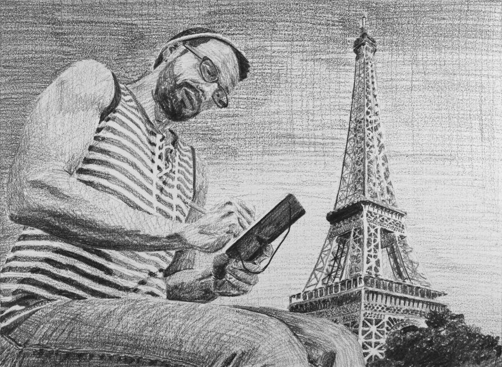 Writing in Paris  Ep 2 Scene 5.4 Graphite on paper