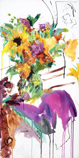 """Blooming Canvas, 36"""" x 18"""""""