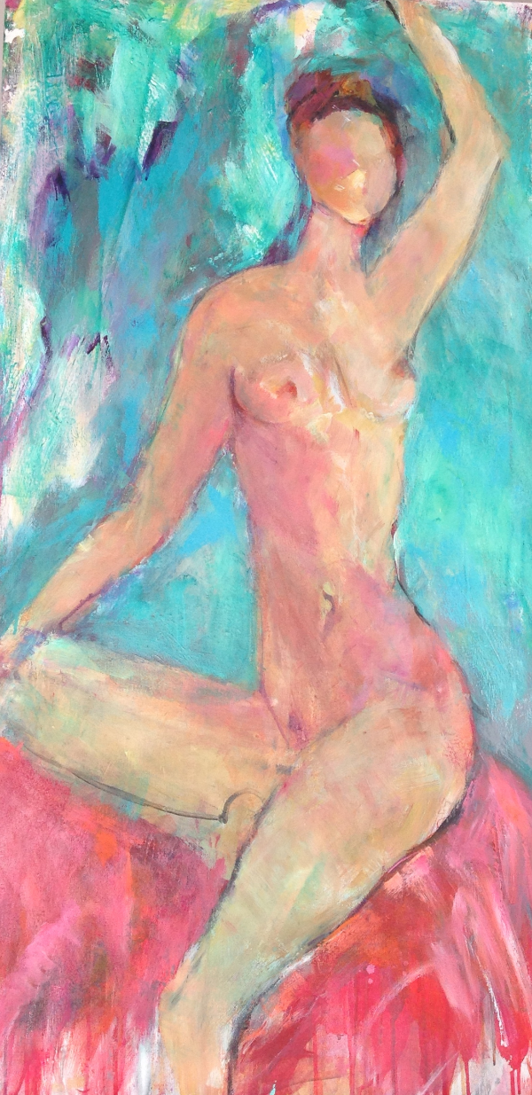 Abstract Nude Painting in Acrylic