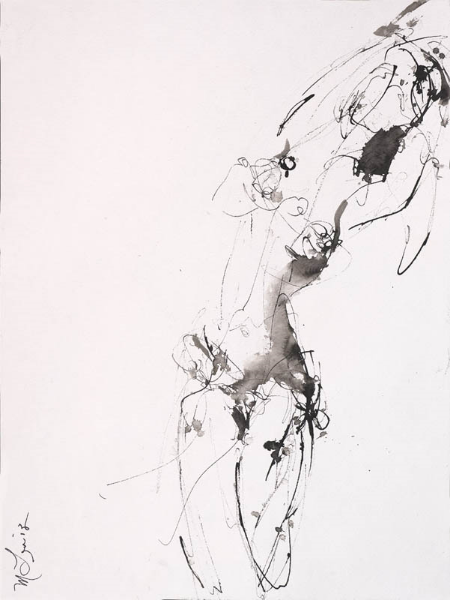 Female Figurative Ink Drawing