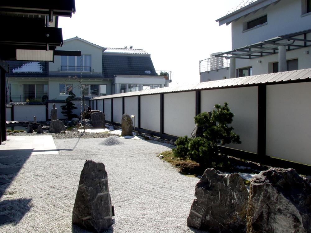 Sichtschutzwand im Japanischen Garten