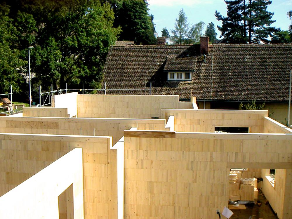 Wände aus Steko-Modulen