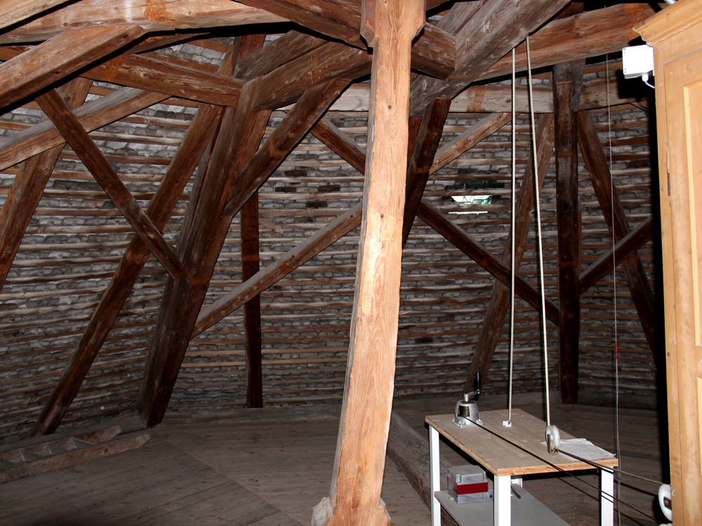 Ausschnitt Dachstuhl über Kirchenchor