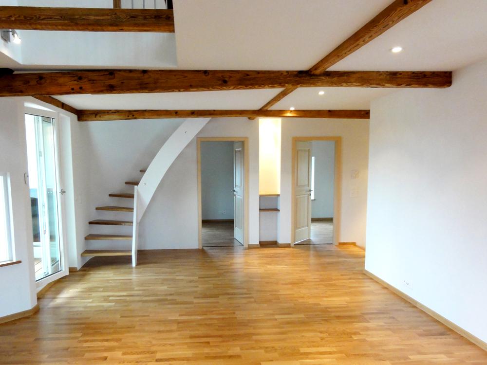 Dachausbau In Maisonette Wohnung Unter Ottikon Projekte