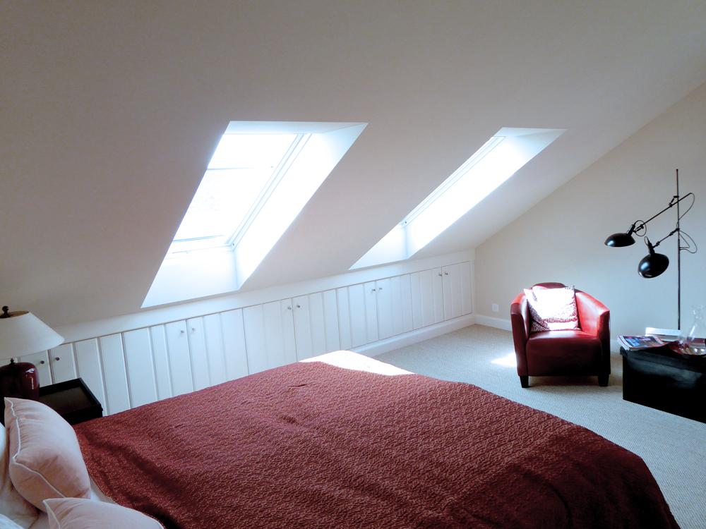 Dachfenster im Schlafzimmer