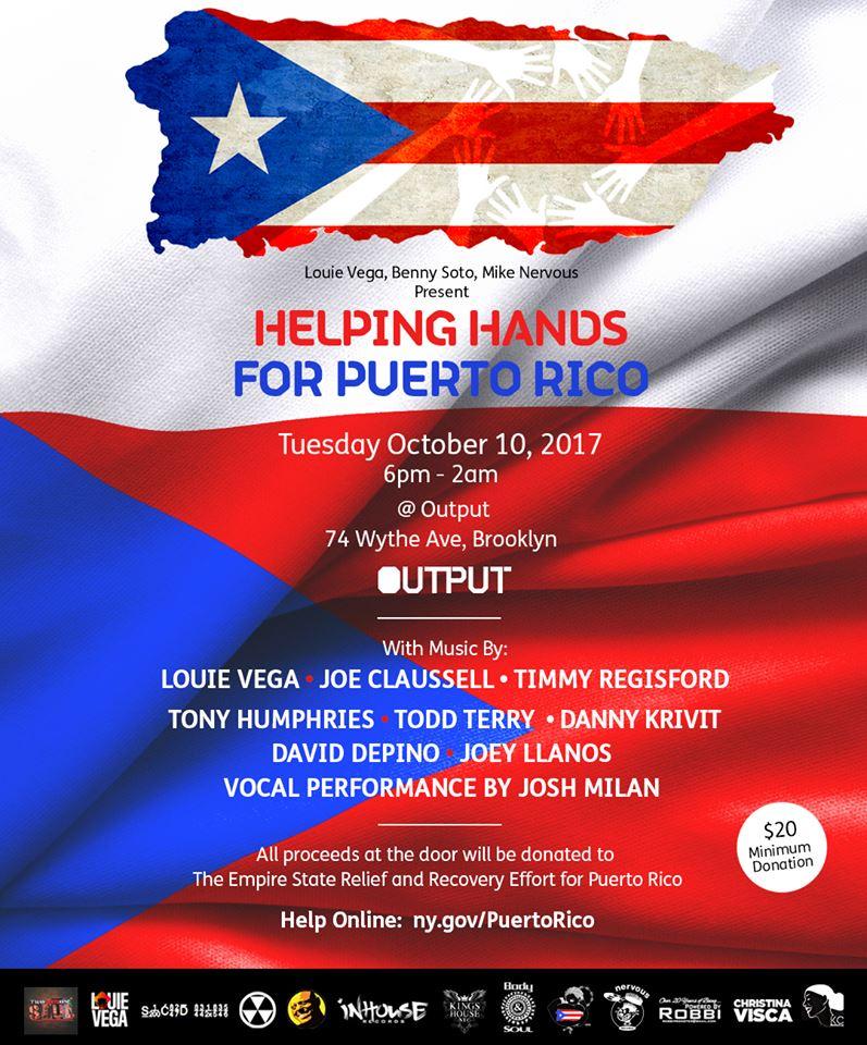 Puerto Rico Louie Vega Benny Soto Mike Nervous Output Robbie Lumpkin Promotions