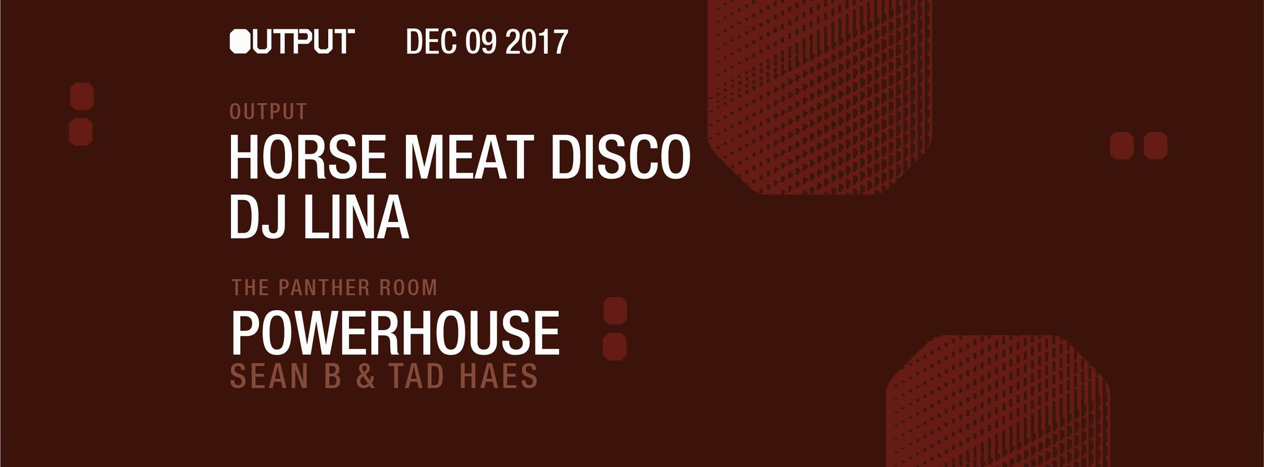 horse meat disco Output Robbie Lumpkin Promotions