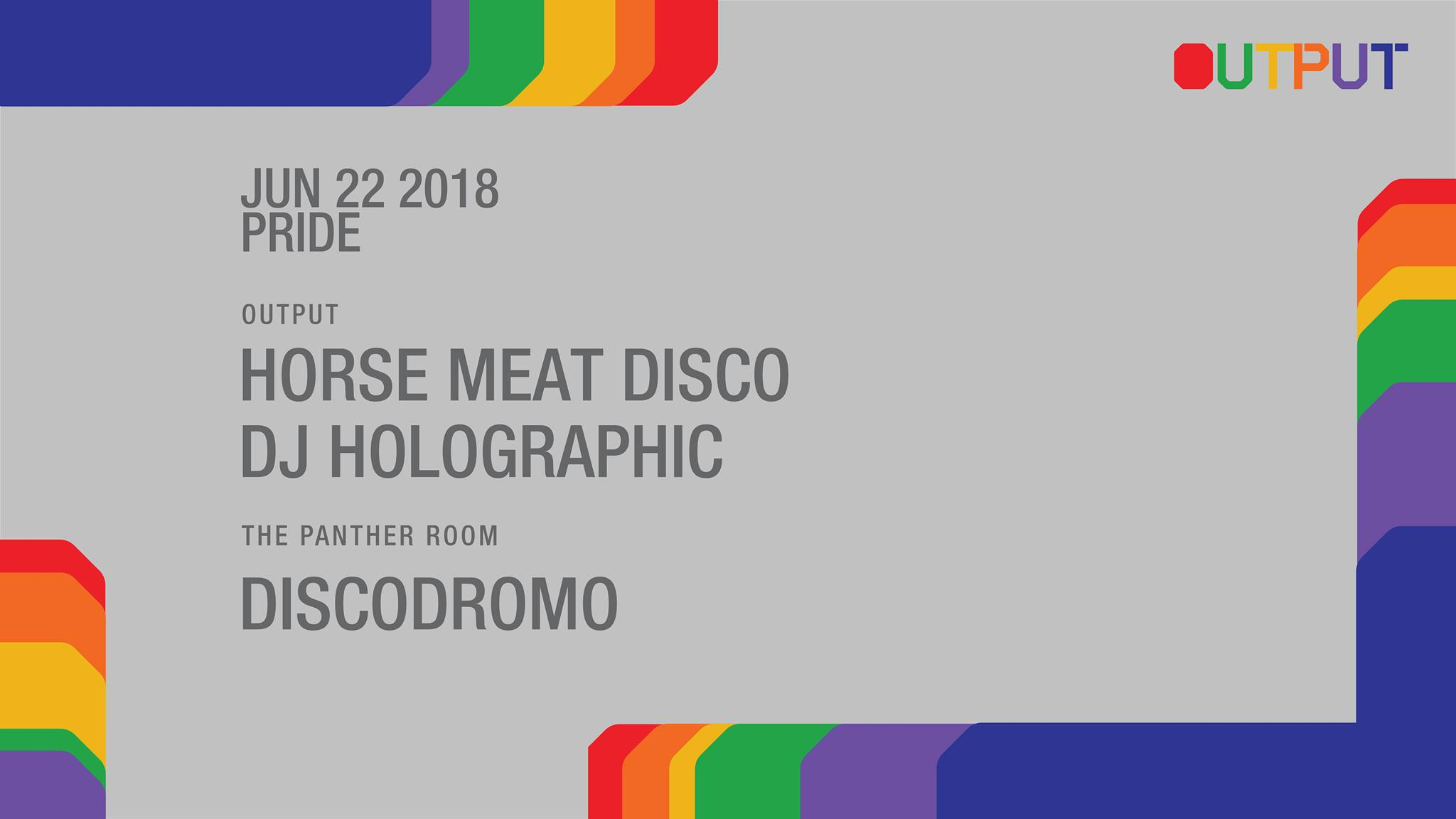 Output Club BK Robbie Lumpkin Promotions horse meat disco