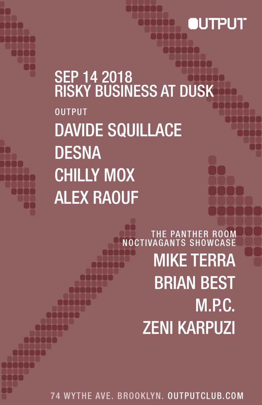 david squillace Output Club BK Guest List Robbie Lumpkin Promotions