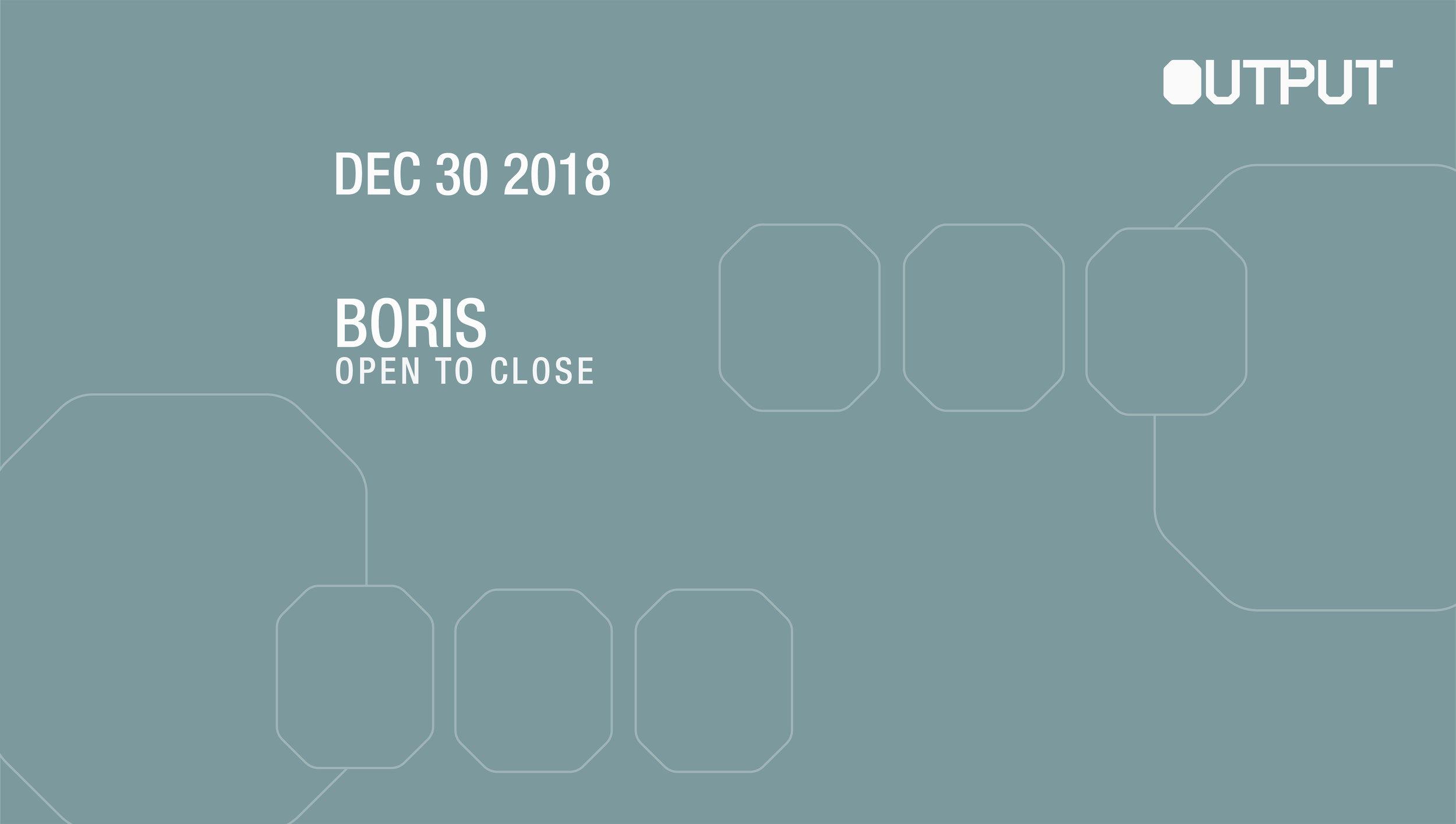 Boris Output Club BK Guest List Robbie Lumpkin Promotions