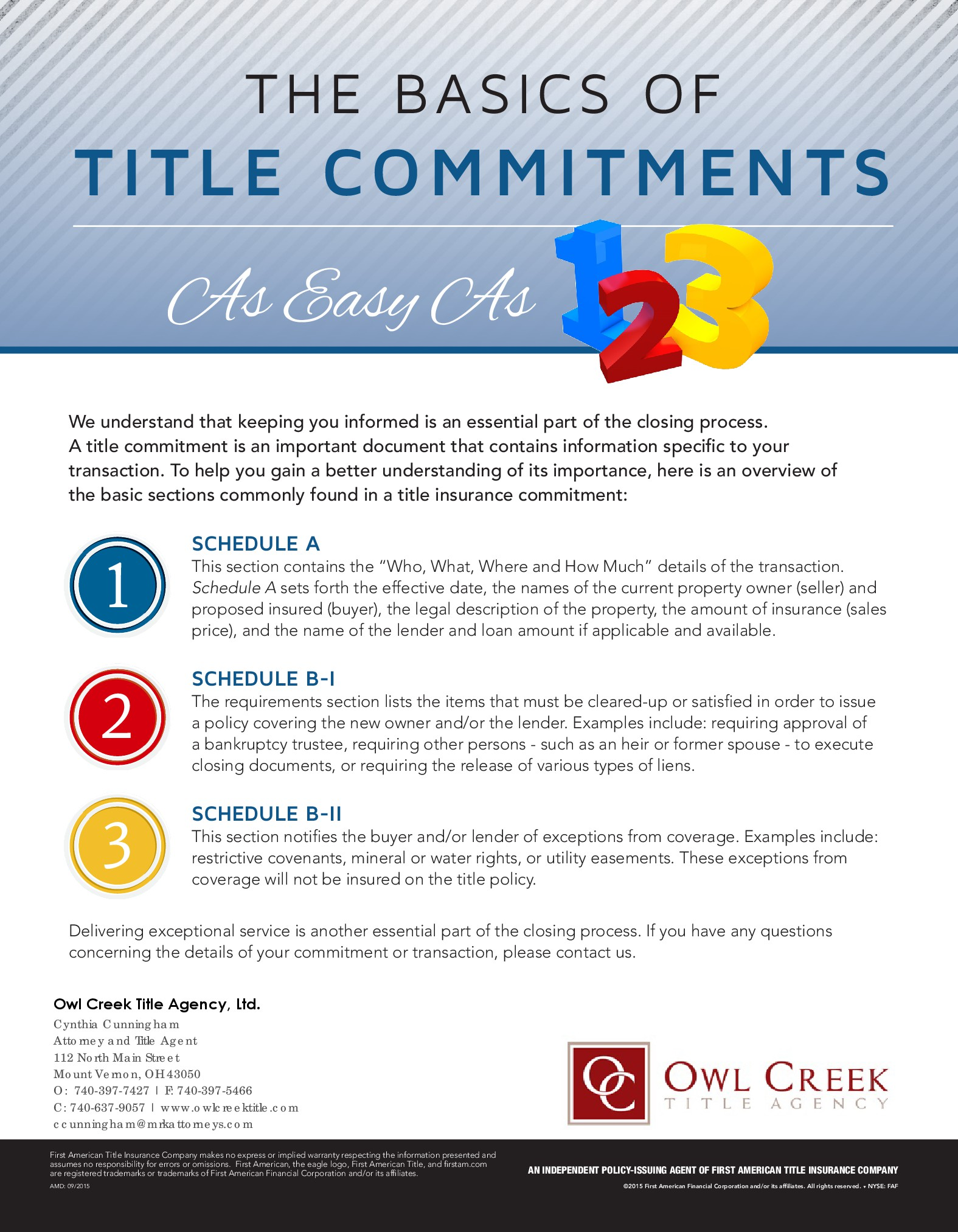 The Basics of Title Commitments