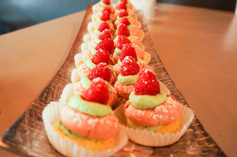 Raspberry-Pistachio Macarons