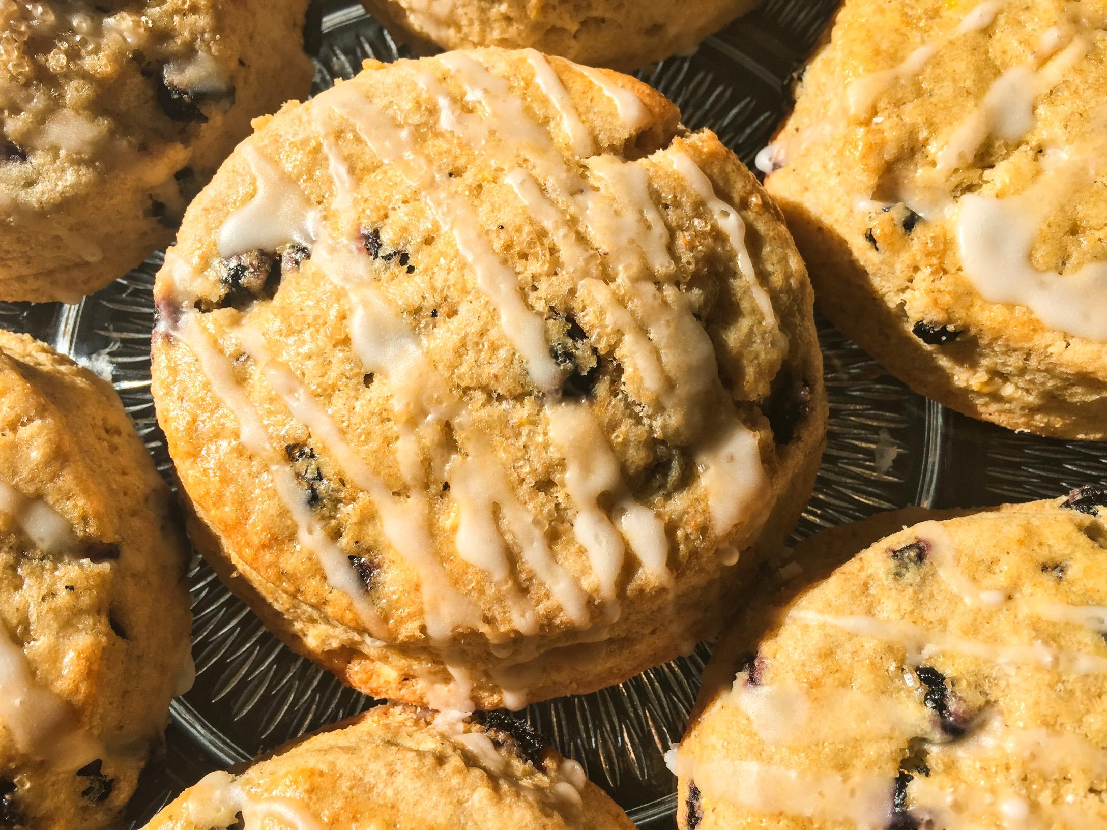 Lemon-blueberry scones