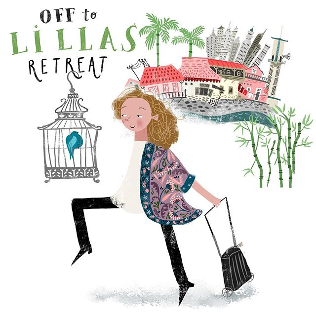 So excited about this year's @lillarogers artist retreat! Happy to get to meet Lilla, all the lovely studio ladies, the other artists and the art directors. 😊❤️#lillasretreat #lillarogers #lillarogersstudio #lillasartretreat