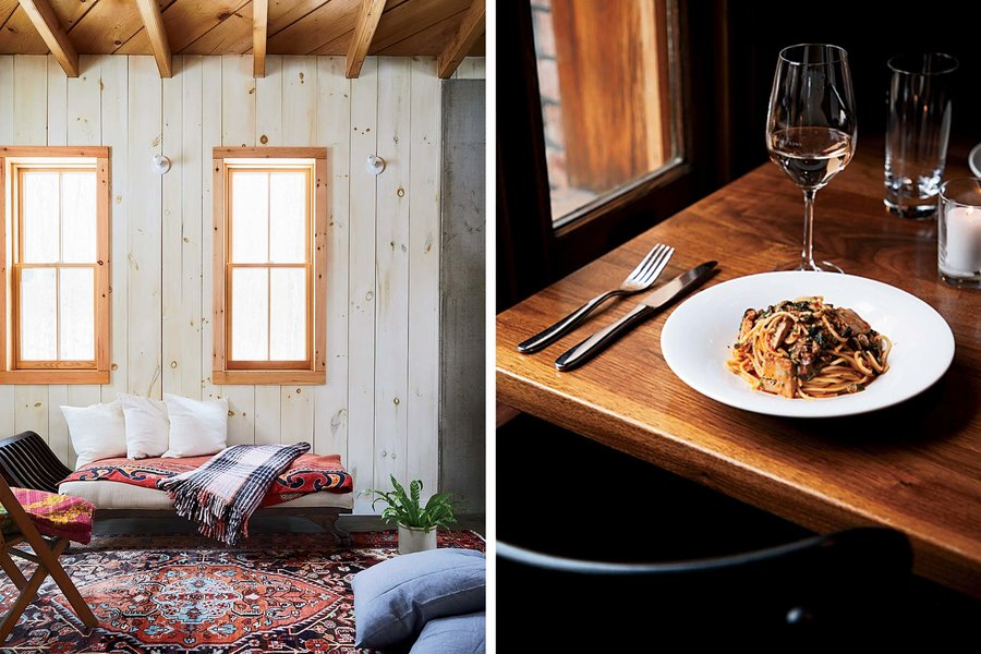 - One of the more pleasurable recent trends in fine dining is the emergence of restaurants with rooms—gastronomic destinations worth a bit of traveling, where you can simply slip away to one of a few well-appointed lodgings after the last course. Unfortunately, you had to go all the way to Europe, primarily the Cotswolds or France, where fancified pubs and petite auberges have become plentiful.Read more . . .