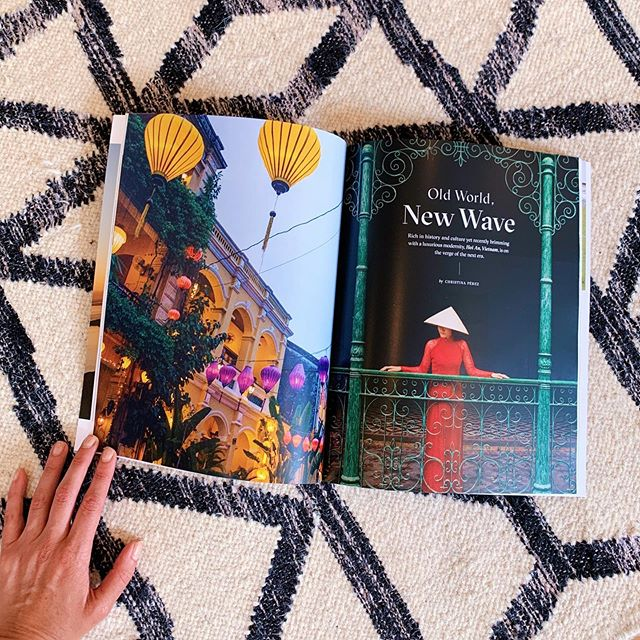 Somehow seeing it in print makes the eternal jet lag worth it ✨ Hoi An, Vietnam For Nonstop Magazine 🇻🇳 @gulfstreamaero @fsnamhai