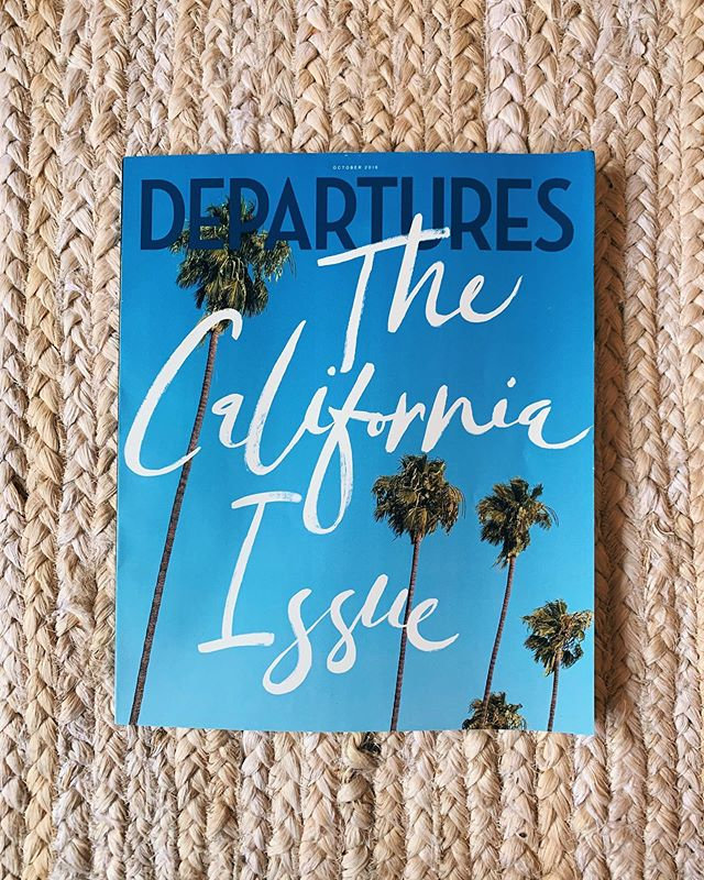 Moved to California and then I got to write a bunch of stuff about California for the October issue of @departuresmag, which is also all about California! ✨😘✨ @atcodinha @ben.however @mogster66 @byvickmichel @zo @bradleymeinz @chris.mc.pherson
