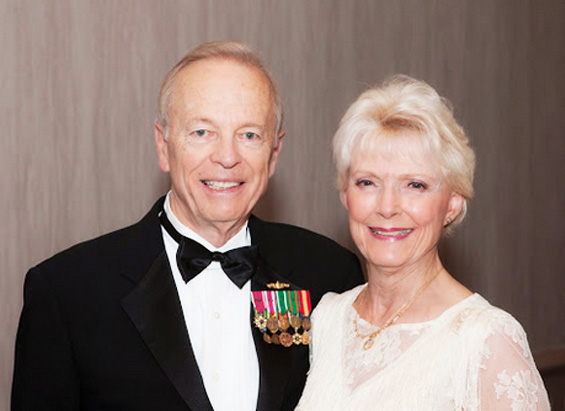 Cadence Travel Specialists Don Berkebile and Karyn Farr, photographed at the 74th annual gala, are longtime advocates of USO San Diego.