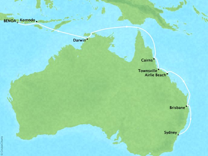 Australia + New Zealand Cruise - Benoa (Bali), Indonesia to Sydney, Australia17 Days, December 21, 2018Aboard Silver MuseContact your personal travel advisor for pricing, similar itineraries, or alternate dates.This itinerary has Virtuoso Voyage benefits!Plus, ask about the