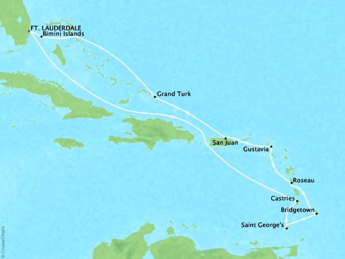 Caribbean and Central America Cruise - Roundtrip Fort Lauderdale, Florida15 Days, December 21, 2018:Aboard Silver SpiritContact your personal travel advisor for pricing, similar itineraries, or alternate dates.This itinerary has Virtuoso Voyage benefits!