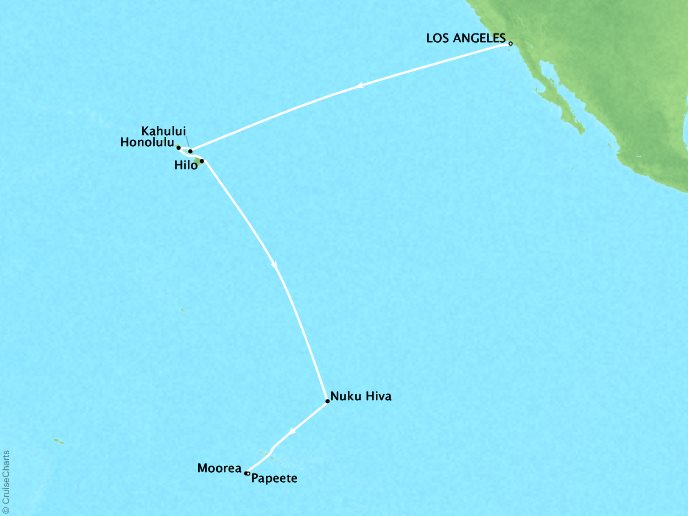 Passage to Polynesia (17 Days) - November 11, 2018Ship: RegattaLos Angeles, CA to Papeete, French PolynesiaPerks: Pre-Paid GratuitiesContact your personal travel advisor for pricing, similar itineraries, or alternate dates.