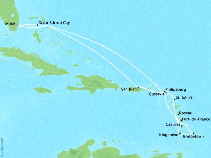 Caribbean Pearls (15 Days) - December 19, 2018Ship: RivieraRoundtrip Miami, FlPerks: Pre-Paid GratuitiesContact your personal travel advisor for pricing, similar itineraries, or alternate dates.