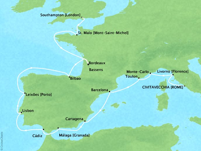 Wineries & Royalty (17 Days) - May 17, 2019Ship: MarinaCivitavecchia, Italy to Southampton, United KingdomPerks: Prepaid GratuitiesContact your personal travel advisor for pricing, similar itineraries, or alternate dates.