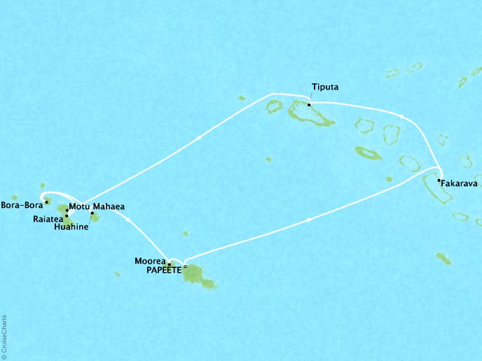 Tahiti and The Tuamotu Islands - 12 Days, November 18, 2018Aboard Wind SpiritRoundtrip Papeete, French PolynesiaWas $11,599 ppNow $3,399 pp
