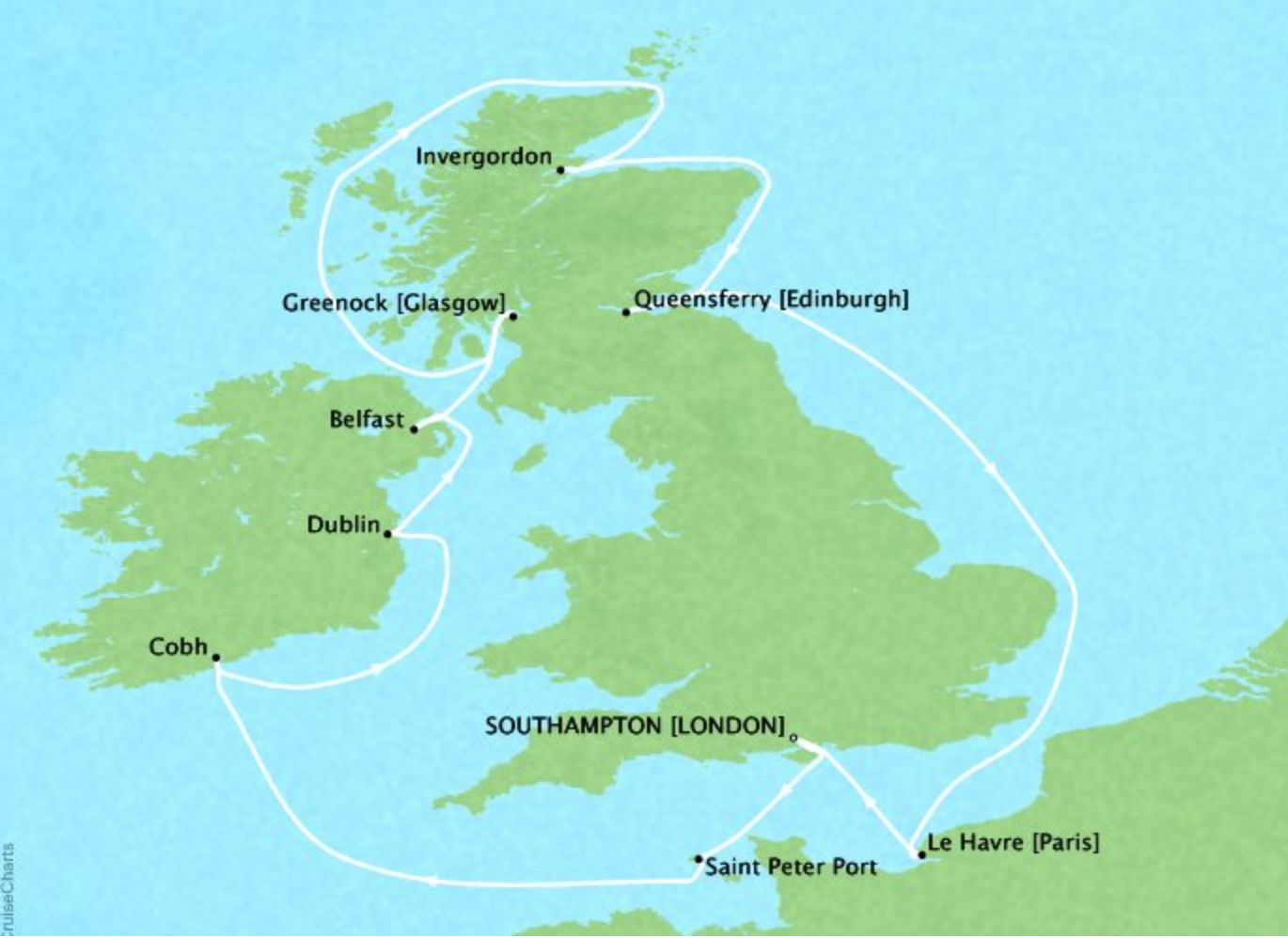 12 day British Isles (with dublin overnight)Crown Princess®Roundtrip London (Southampton) - Itineraries available between May 2019 - August 2019